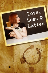 Love, Loss and Lattes postcard on coffee stains